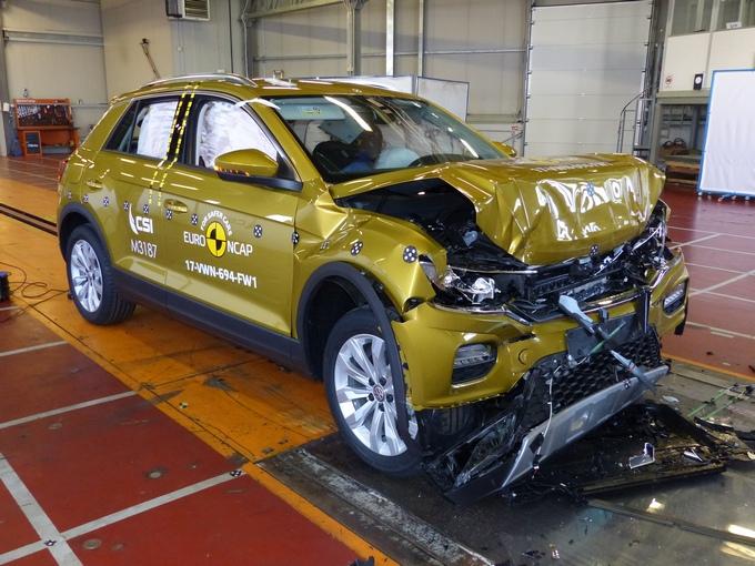Краш-тесты Euro NCAP: семь кроссоверов иодна легковушка