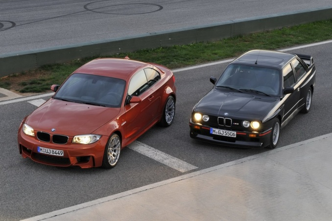 BMW 1-Series M Coupe со старым седаном M3