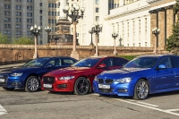 Большой тест: BMW 3 Series, Jaguar XE, Audi A4