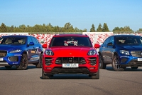 Большой тест: Jaguar F-Pace, Porsche Macan Turbo, Mercedes-AMG GLC 43 Coupe