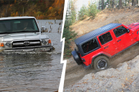 Внедорожный тест: Jeep Wrangler Rubicon против Toyota Land Cruiser 70