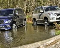 Сравниваем на бездорожье Lexus LX570 и Infiniti QX80